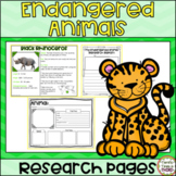 Endangered Animals Research Pages: Read and write about 15