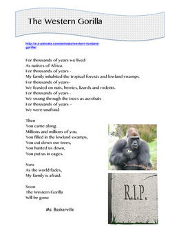 Endangered Animals - Research and Poetry