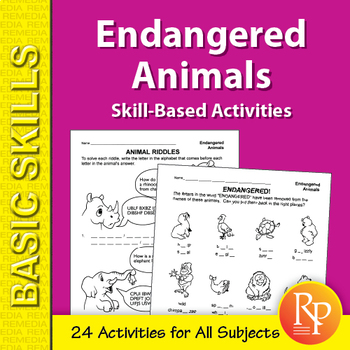 Endangered Animals: Skill-Based Activities for Grades 3-4