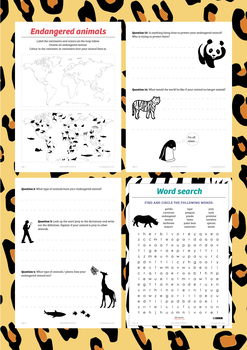 Endangered Animals Student Research Book