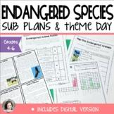 Sub Plans or Theme Day: Endangered Animals | ELA Math Science