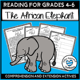 African Elephant Nonfiction Reading Comprehension - Endangered Species
