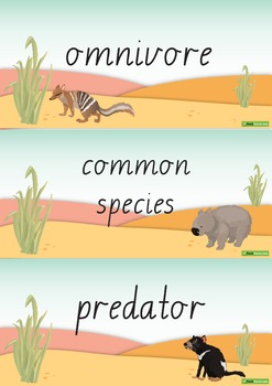 Endangered Animals Word Wall Vocabulary – Australia
