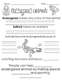 Endangered Animals Writing- Pebblego Follow-up