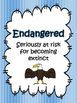 Endangered, Extinct, Threatened {Activities, Posters, Quizzes, Leveled Texts}