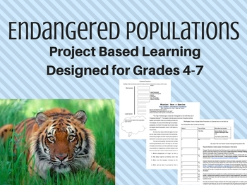 Endangered Populations - Project Based Learning