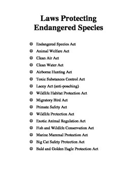 Endangered Specie Project Packet (4th-6th)