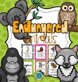 Endangered Animals A-Z Alphabet Poster Set