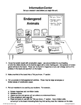 Endangered Species: Before We Begin