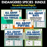 Endangered Species Bundle, Brochure Projects, Using Informational Text
