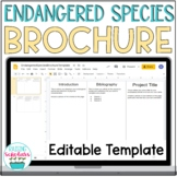 Endangered Species Brochure Template Google Slides Distanc