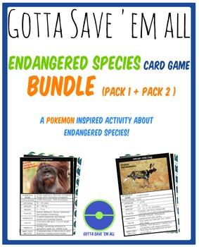 Endangered Species Card Game BUNDLE - Gotta Save 'Em All