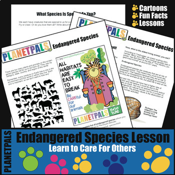 Endangered Species Fun Fact Reading Writing Lesson Earth Science Environment