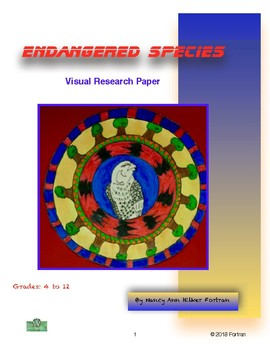 Endangered Species Mandala Visual Arts  and Research Lesson 4th to 12th Grade