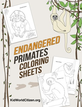 Endangered Species: Primate Coloring Sheets