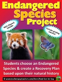 Endangered Species Project: Research a Species & Create a Recovery Plan - NGSS