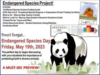 Endangered Species Project - Teacher's Guide, Handouts, Po