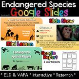 Endangered Species Report Google Slides