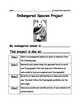 Endangered Species Research Packet