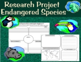 Endangered Species Research project- graphic organizers