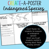 Endangered Species: Students Create-a-Poster