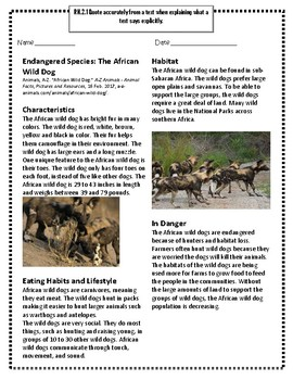 Endangered Species: The African Wild Dog