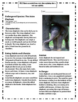 Endangered Species: The Asian Elephant