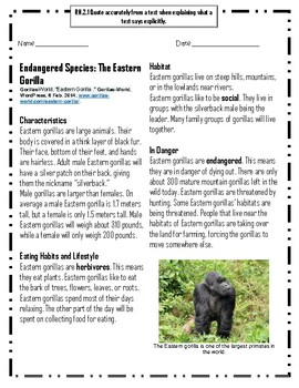 Endangered Species: The Eastern Gorilla
