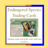 Endangered Species Trading Cards