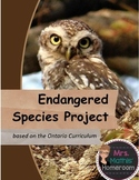 Endangered Species, Animal Adaptations Project