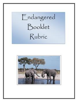 Endangered / Threatened Booklet Rubric