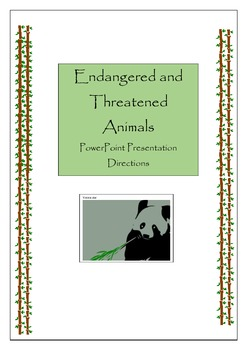 Endangered / Threatened PowerPoint Presentation