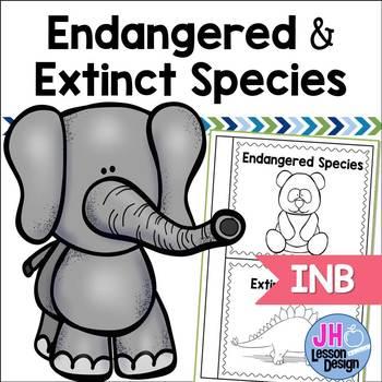 Endangered and Extinct Species Interactive Notebook Activity