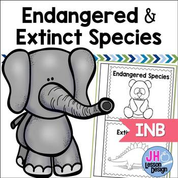 Endangered and Extinct Species Interactive Notebook Activity