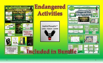 Endangered by Eliot Schrefer Activity Bundle