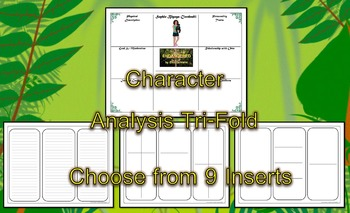 Endangered by Eliot Schrefer Character Analysis Tri-Fold Freebie