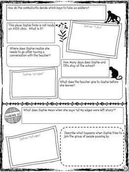 Endangered by Eliot Schrefer - Close Read Book Report Template