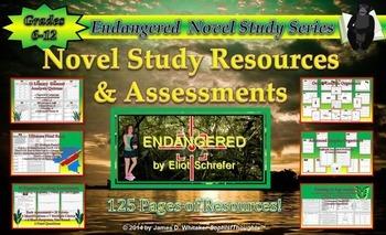 Endangered by Eliot Schrefer Ultimate Novel Study Resource Bundle