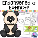 Endangered and Extinct: Cut and Paste Sorting Activity