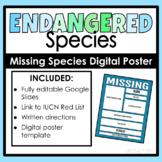 Endangered species digital poster