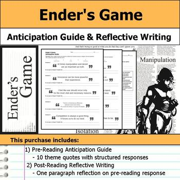 Ender's Game - Anticipation Guide & Reflection