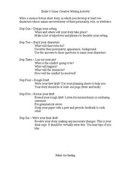 Ender's Game Creative Writing Summative Assessment (MYP)