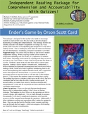 Ender's Game Independent Reading Package with Quizzes!
