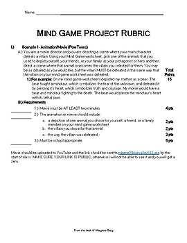 Ender's Game Mind Game Project