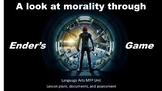 Ender's Game Morality Unit Lesson Plans and Assessment (MYP)