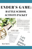 Ender's Game Novel Activities: Create a Battle School in Your Classroom