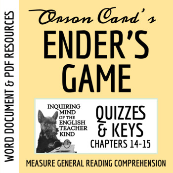 Ender's Game Quiz (Chapters 14-15)