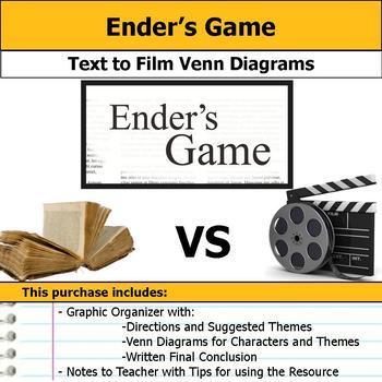 Ender's Game - Text to Film Venn Diagram & Written Conclusion