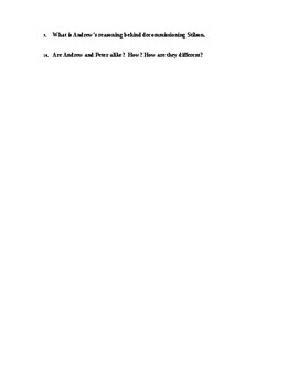 Ender's Game Ch 1 Study Guide/Scavenger Hunt and KEY