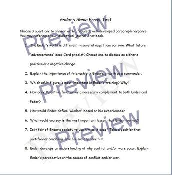 Ender's Game: Levels of Questioning & Novel Test Bundle